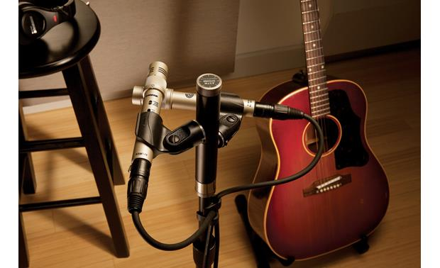 Shure KSM141 In X-Y configuration (stand and second mic not included)
