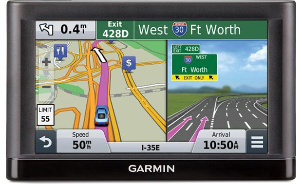 Garmin nüvi® 55LMT Lane guidance in action.