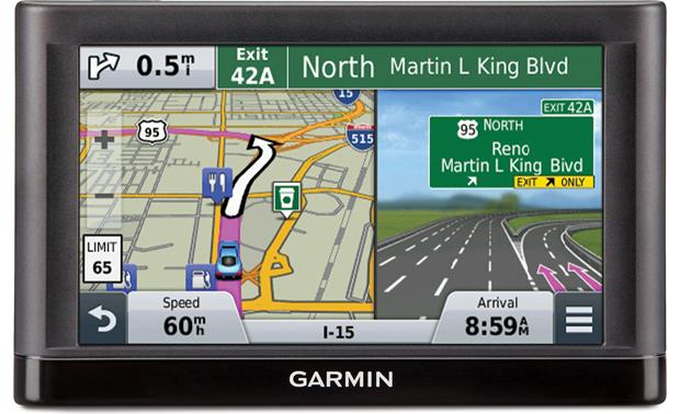 Garmin nüvi® 56 Lane guidance in action.