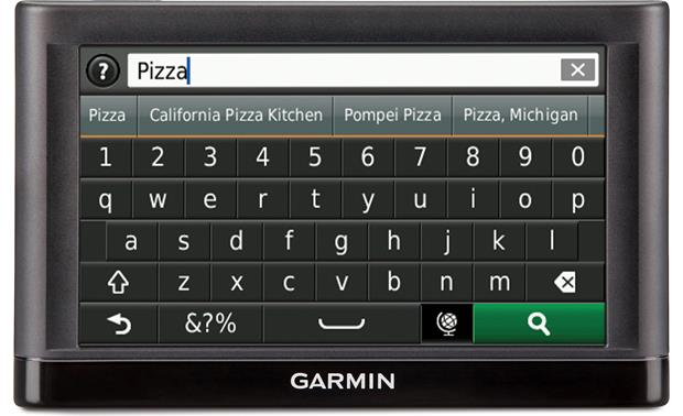 Garmin nüvi® 56LM Garmin's advanced search screen lets you find destinations quickly.