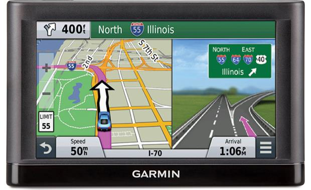 Garmin nüvi® 65LM Lane guidance in action.