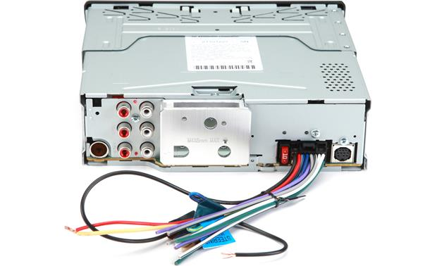 Kenwood Excelon KDC-X397 Rear panel with included harness attached