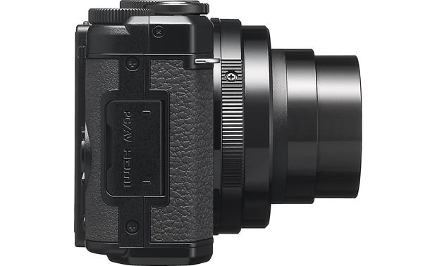 Pentax MX-1 Side view with zoom lens extended