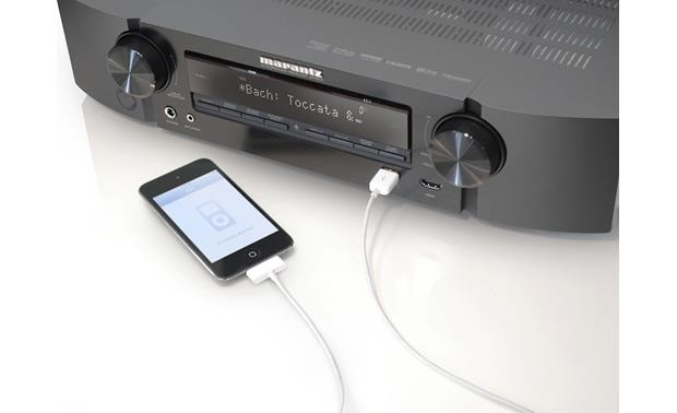 Marantz NR1604 Connects to iPod® (not included)
