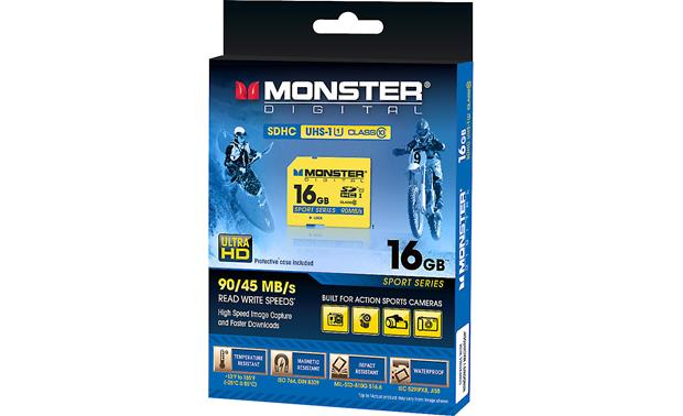 Monster Digital SDHC Memory Card Front of package