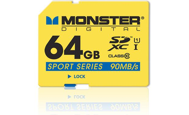 Monster Digital 64GB SDXC Memory Card Front