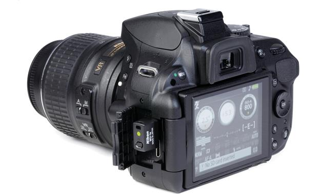 Nikon WU-1a Shown with D5200 kit, not included