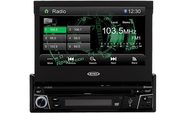 jensen vx3010 dvd receiver at crutchfield com jensen vx3010 front