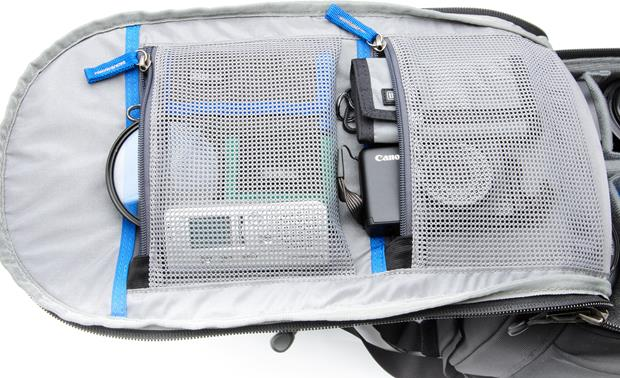 Think Tank Photo Glass Limo Expanding mesh pockets provide additional storage