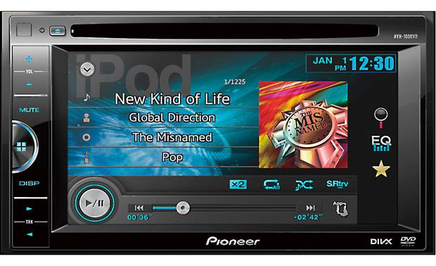 Pioneer AVH-100DVD Pioneer's AVH-100DVD provides intuitive controls over your iPod and iPhone music