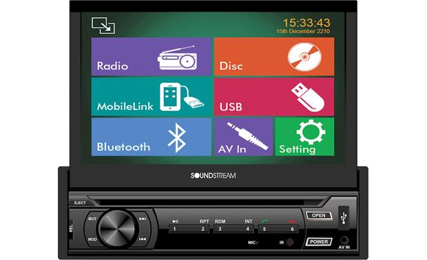 Soundstream VR-722HB Sleek touchscreen controls give you access to all your music and video