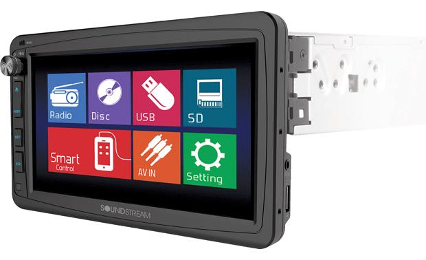 Soundstream VR-732B Get the big screen experience in the smaller single-DIN fit