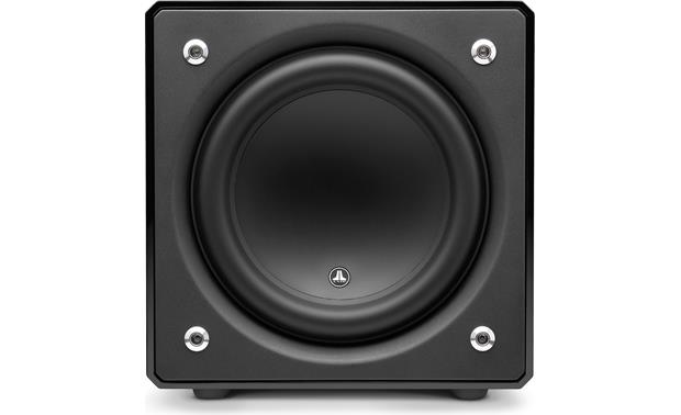 JL Audio E-Sub e112 Direct front view with grille removed
