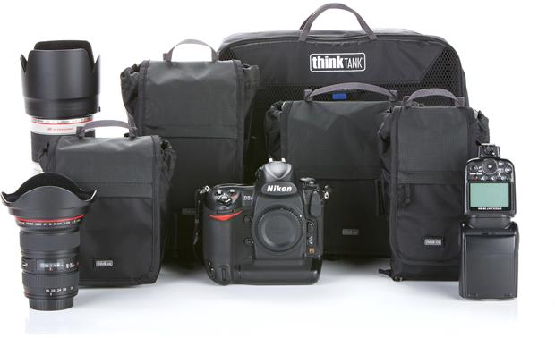 Think Tank Photo Modular Skin Set V2.0 Front, with camera and accessories (not included) for scale