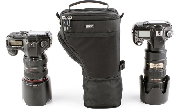 Think Tank Photo Digital Holster 30 V2.0 Front, with cameras for scale