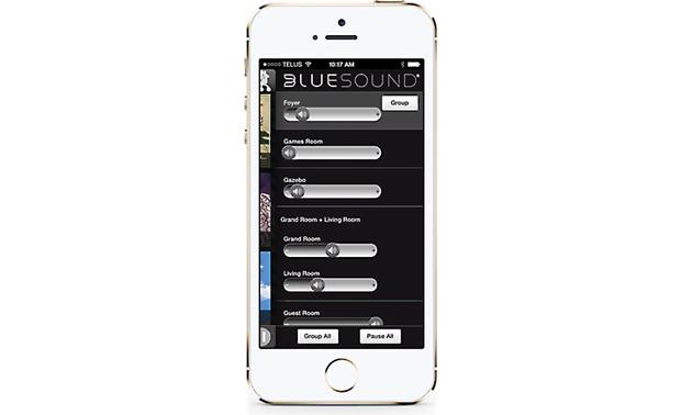Bluesound Powernode Bluesound's free smartphone app lets you control Bluesound speakers in multiple rooms