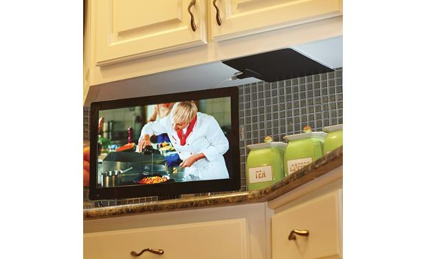 Mohu Leaf 30 TV in the kitchen