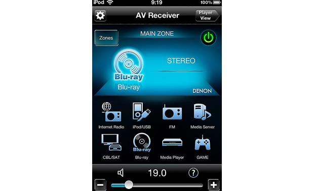 Denon AVR-X1100W IN-Command Denon's free remote app for Apple and Android