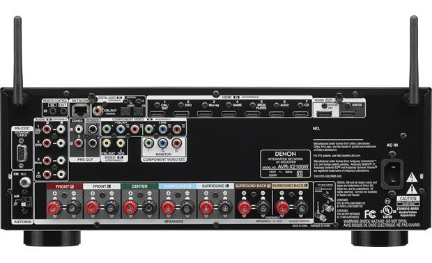 Denon AVR-X2100W IN-Command (2014 Model) Back