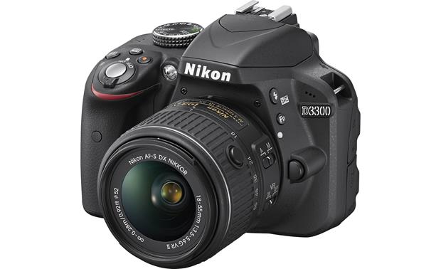 Nikon D3300 Kit Black 24 Megapixel Dslr W18 55mm Dx Vr Ii Lens At
