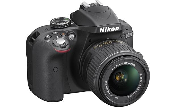 Nikon D3300 Kit Overhead front view showing hand grip and controls