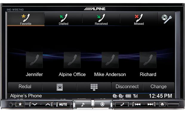 Alpine INE-W957HD See your most recent calls