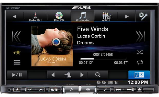 Alpine INE-W957HD Tweak your sound settings and change tracks on the same screen