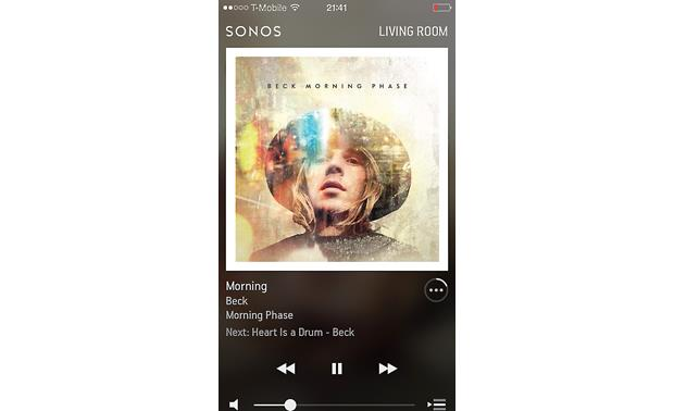 Sonos Connect:Amp The free Sonos app for smartphones (Apple version shown)