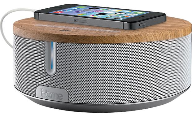 iHome iBN26 BT White/Oak (smartphone and charging cable not included)