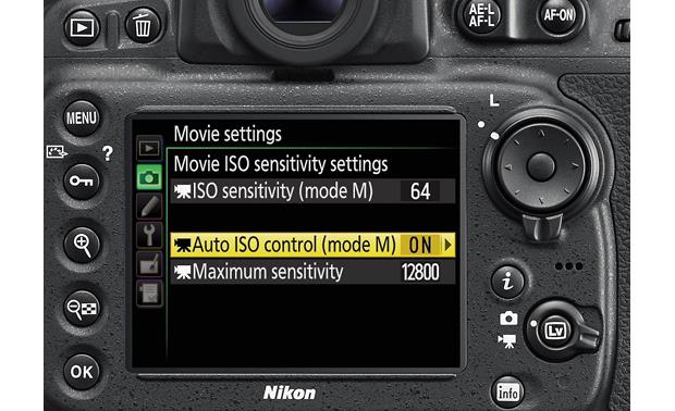 Nikon D810 (no lens included) Wide ISO (sensitivity) range
