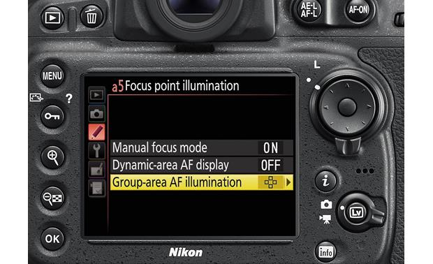 Nikon D810 (no lens included) Extensive menus give you manual control over camera functions