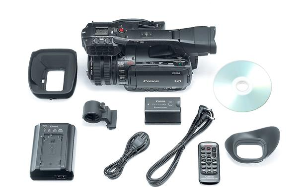 Canon XF-200 Shown with included accessories