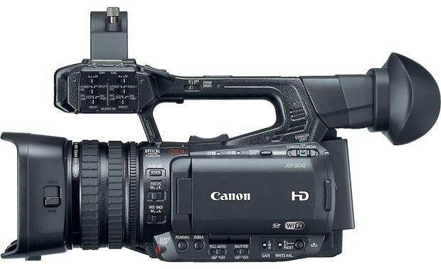 Canon XF-200 Easy access to controls
