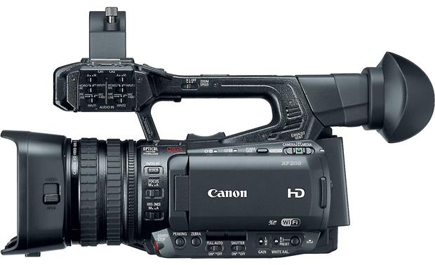 Canon XF-205 Left side, showing controls