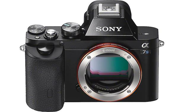 Sony Alpha a7S Front, showing accessory hot shoe