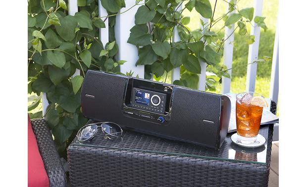SiriusXM Onyx Plus & SXSD2 Package Perfect for the porch (Shown with the SiriusXM Onyx Plus tuner; sunglasses and cool drink not included)