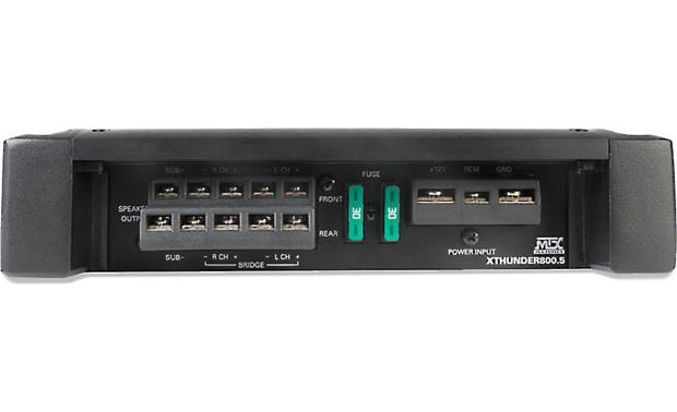 MTX XTHUNDER800.5 Power and output connection panel