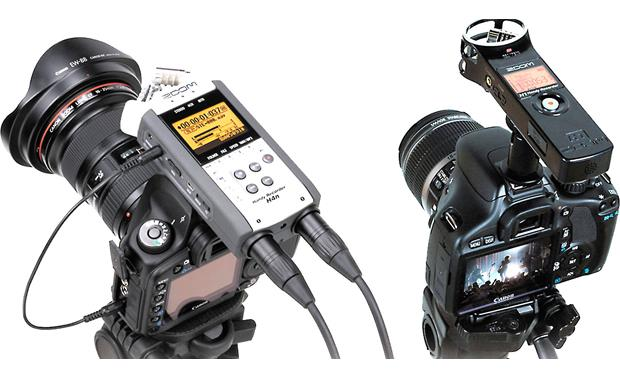 Zoom HS-1 Connects your Zoom Handy recorder to your DSLR camera (recorder and camera not included)