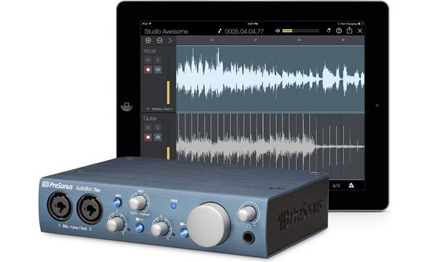 PreSonus AudioBox™ iTwo Record with your iPad (not included)