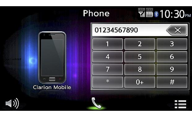 clarion nx604 hands-free calling