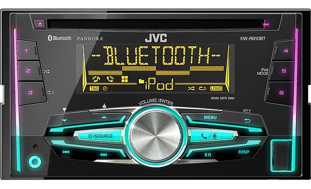 JVC KW-R910BT Symmetrical design
