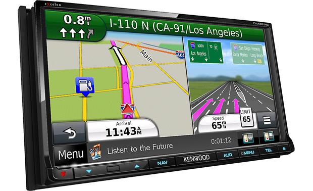 kenwood excelon dnx891hd split-screen views and lane guidance for upcoming  turns