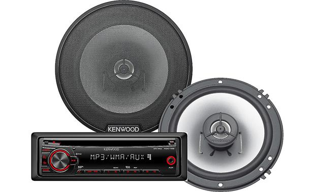 Kenwood Receiver and Speaker Package Kenwood KDC-152 receiver and KFC-G1620 6-1/2