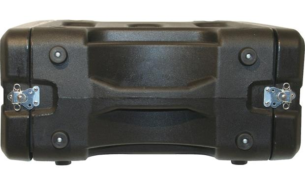 Gator G-Pro-2U-19 Handle side (case latched, 6U-sized case shown)