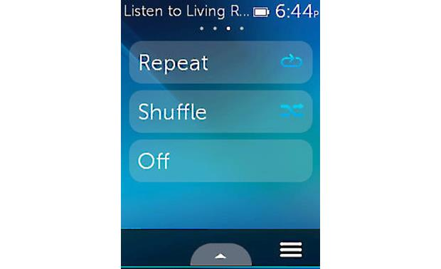 Logitech® Harmony® Ultimate Remote Sonos control screen shot