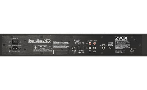 ZVOX SoundBase 670 Back