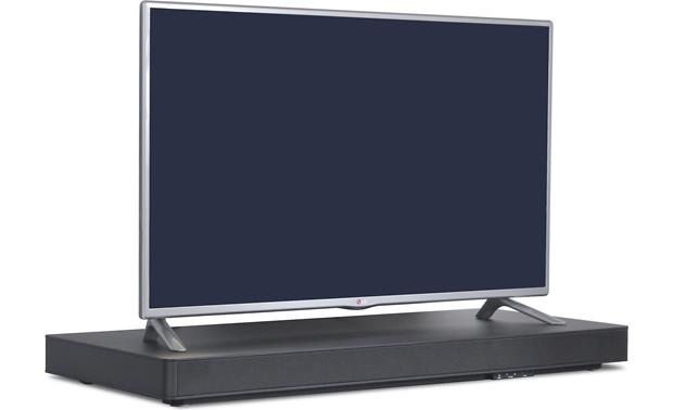 ZVOX SoundBase 770 Shown with TV (not included), facing right