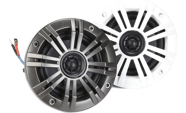 Kicker KM44CW Comes with both charcoal and white grilles