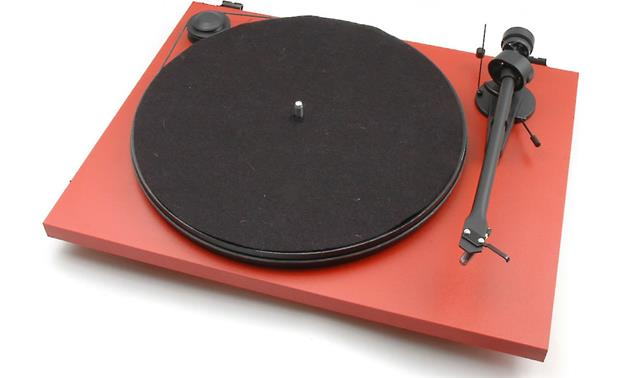 Pro-Ject Essential II Phono USB Matte Red (dust cover included, not shown)