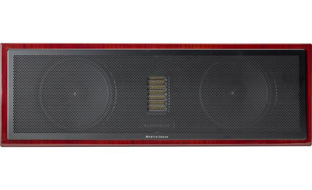 MartinLogan Motion® 50XT Direct front view with grille on (Gloss Black Cherrywood)